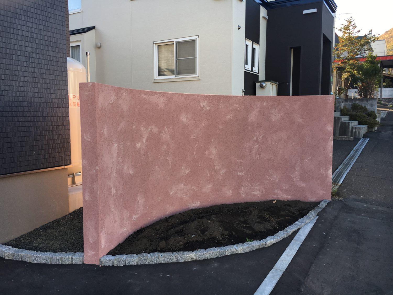 塗り壁/2色かき落とし仕上げ