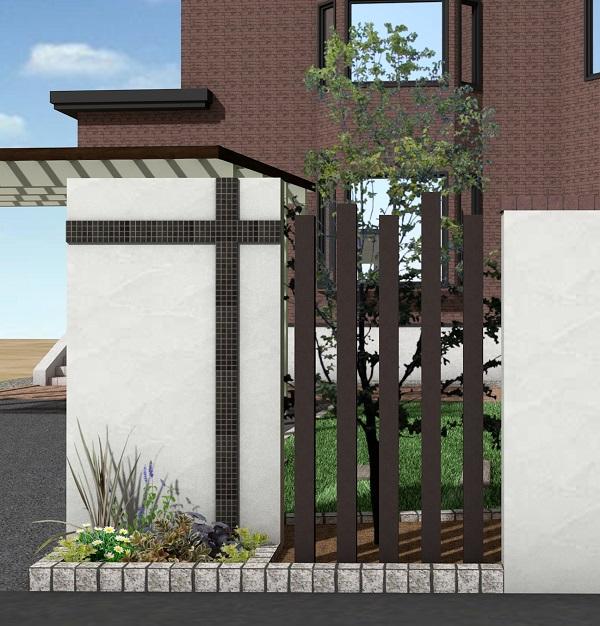 塗り壁門柱と最近の図面情報
