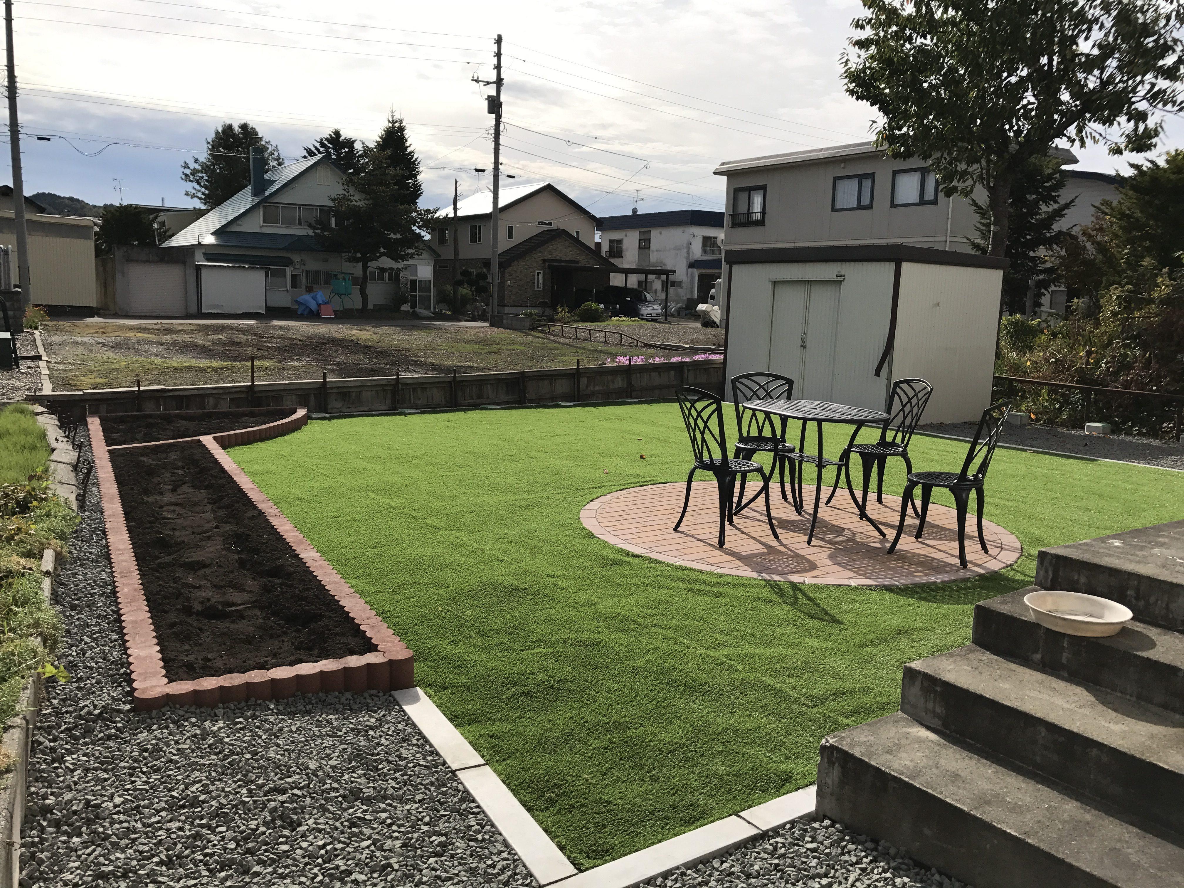 お庭雑草対策