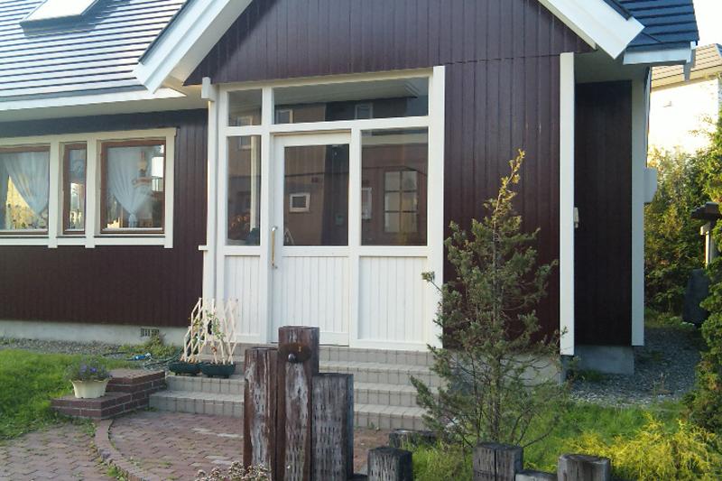 木製玄関風除室