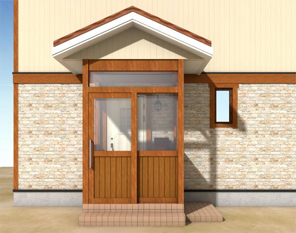 木製玄関風除室のイメージパースも作成できます!