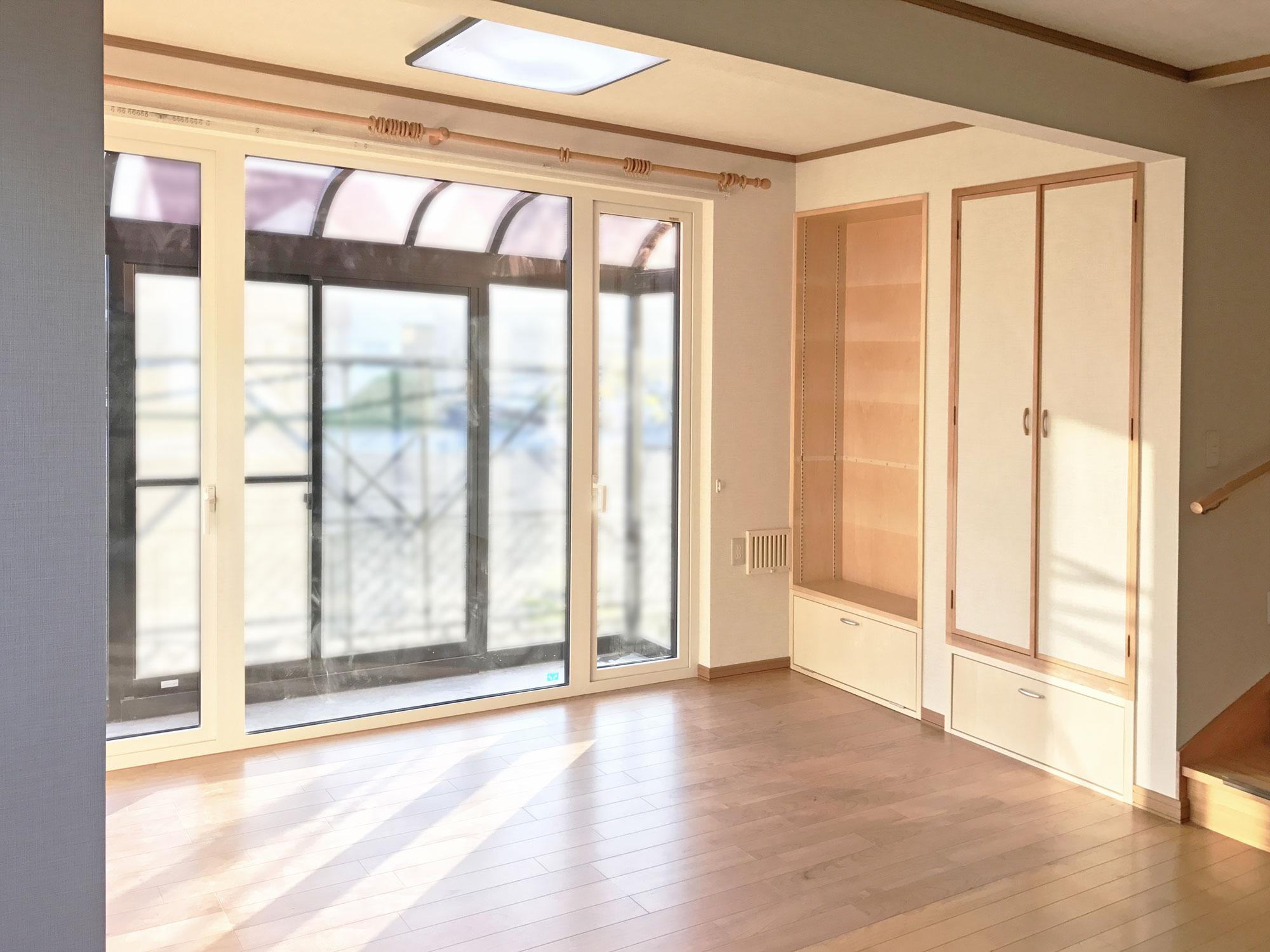 こあがり和室を洋室に。明るく広々とした空間へリフォーム